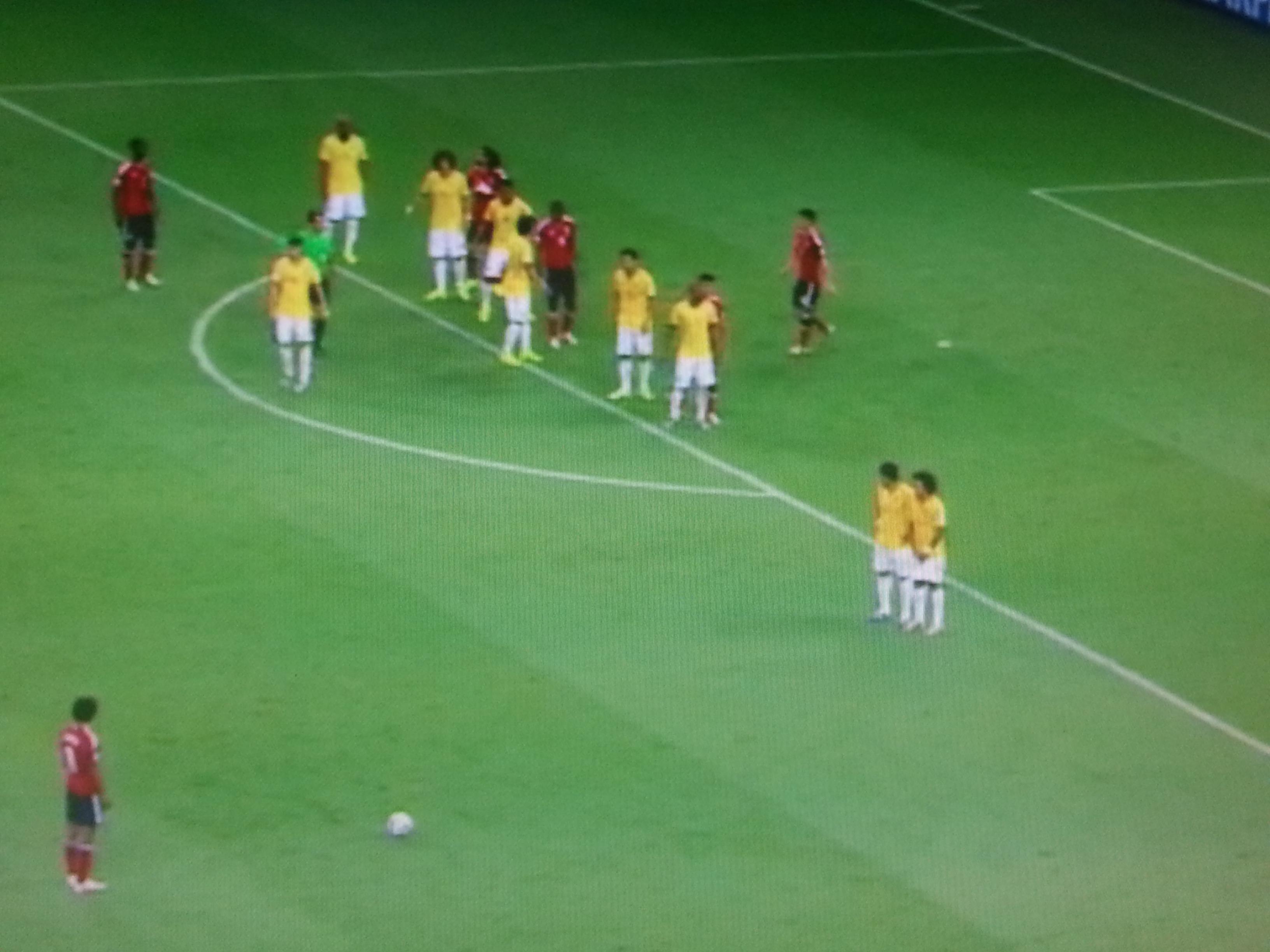 Soccer penalty kick night — Stock Photo